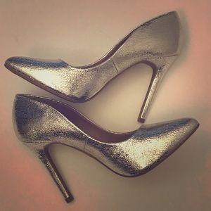 Abound Silver Crackled  High Heel Pump